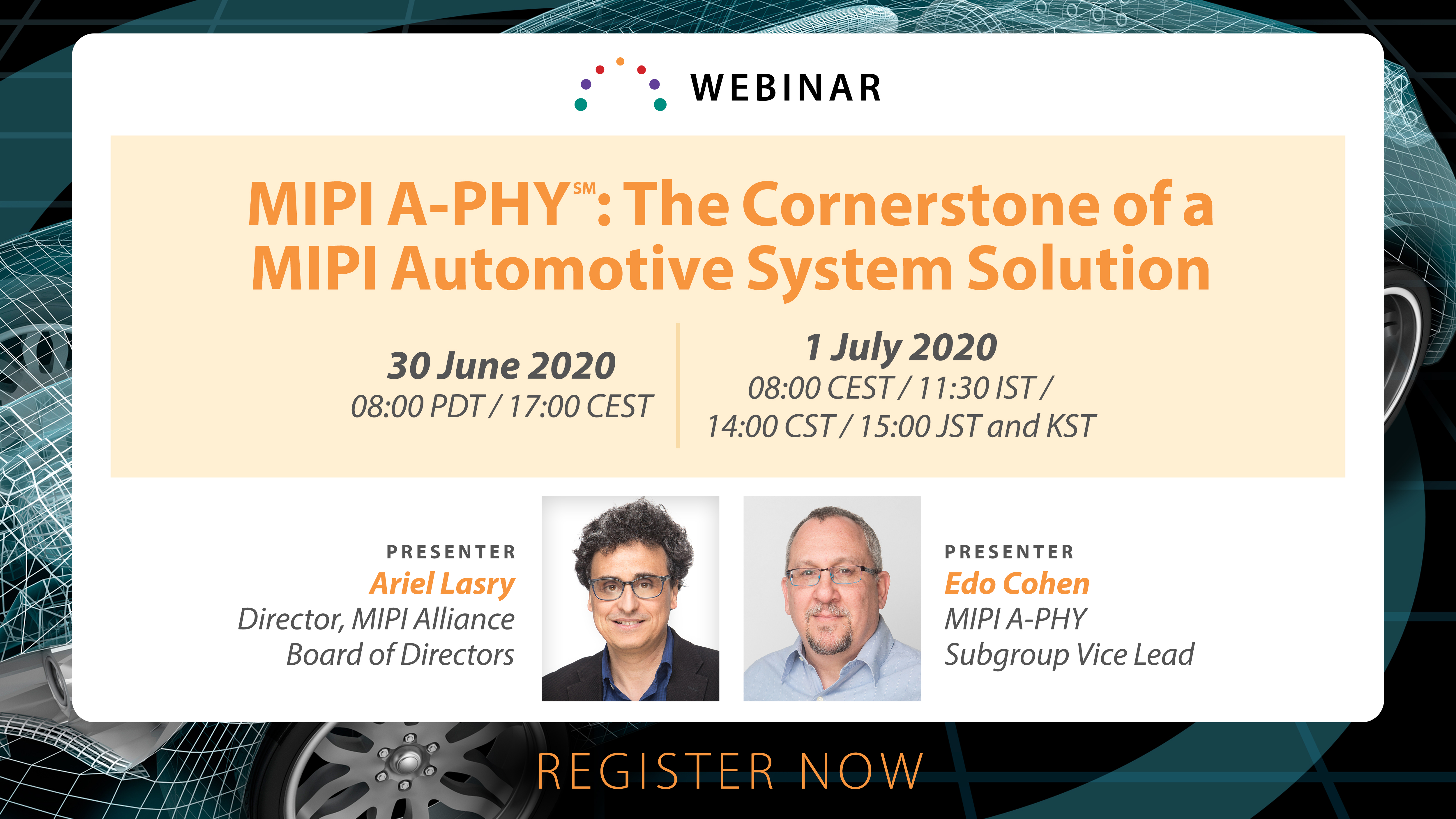 Upcoming MIPI A-PHY Webinar: A First Look at a New Automotive Solution