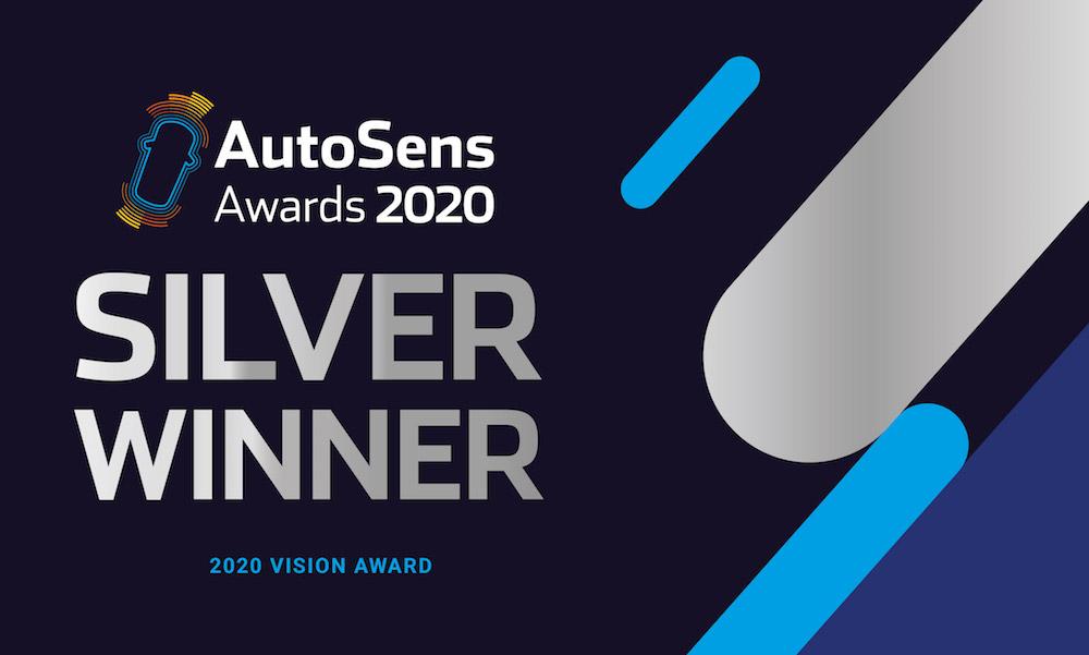AutoSens 2020 Silver Vision Award winner graphic