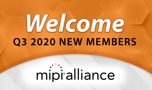 Welcome New Members – 3rd Quarter 2020