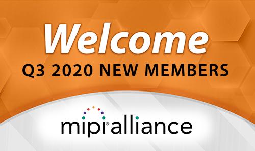 Q3 2020 New MIPI Alliance Members