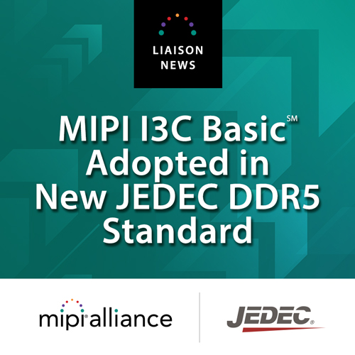 MIPI I3C Basic Adopted in JEDEC DDR5 Standard
