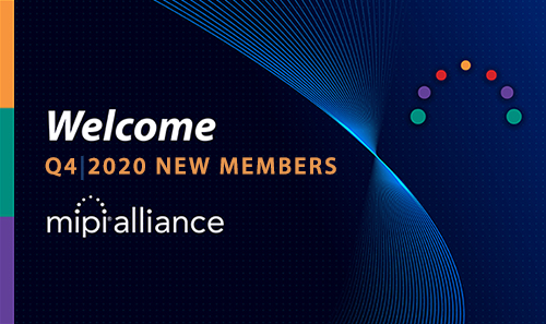 Logos of new MIPI Alliance members
